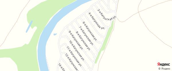 7-я Катунская улица на карте садового некоммерческого товарищества Катунские зори с номерами домов