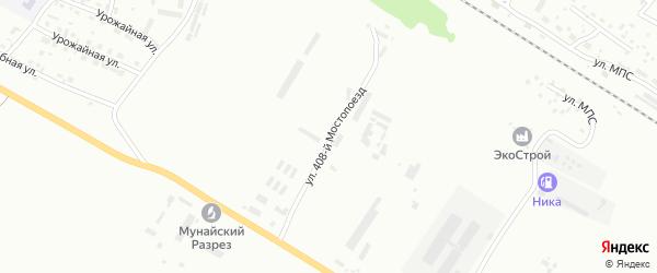 Улица Мостопоезд 408 на карте Бийска с номерами домов