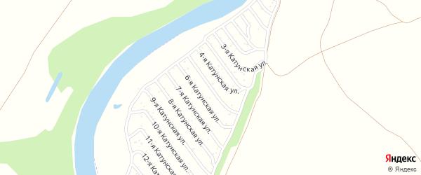 5-я Катунская улица на карте садового некоммерческого товарищества Катунские зори с номерами домов