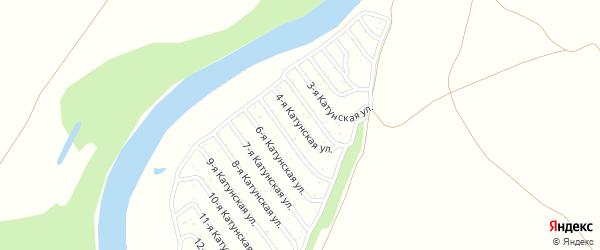 4-я Катунская улица на карте садового некоммерческого товарищества Катунские зори с номерами домов
