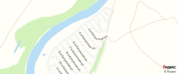 18-я Катунская улица на карте садового некоммерческого товарищества Катунские зори с номерами домов