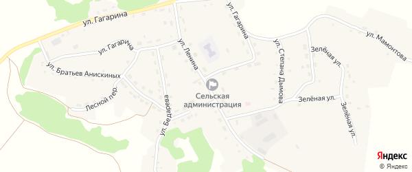 Улица Ленина на карте села Шубенки с номерами домов