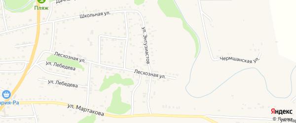 Улица Энтузиастов на карте Смоленского села с номерами домов