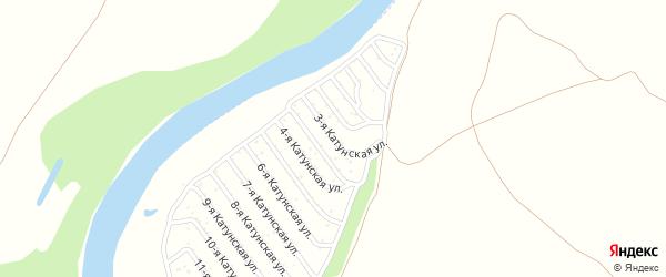 3-я Катунская улица на карте садового некоммерческого товарищества Катунские зори с номерами домов