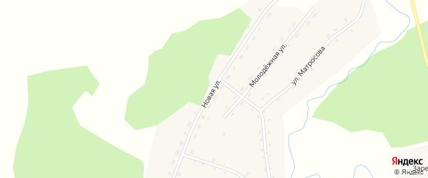Новая улица на карте села Новодраченино с номерами домов