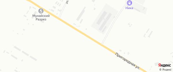 Пригородная улица на карте Бийска с номерами домов