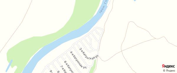 19-я Катунская улица на карте садового некоммерческого товарищества Катунские зори с номерами домов