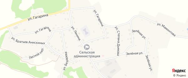 Улица Новоселов на карте села Шубенки с номерами домов