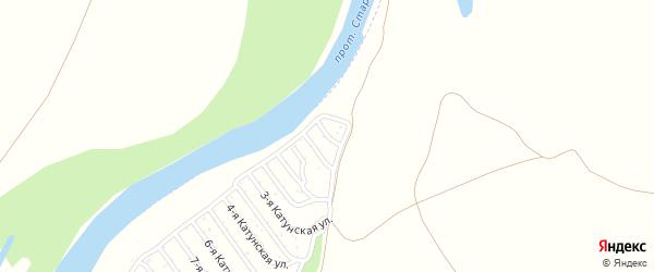 1-я Катунская улица на карте садового некоммерческого товарищества Катунские зори с номерами домов