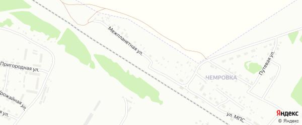 Межпланетная улица на карте Бийска с номерами домов