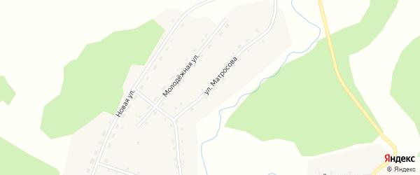 Улица Матросова на карте села Новодраченино с номерами домов