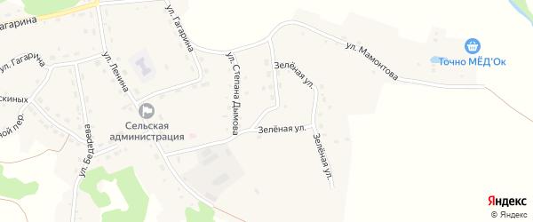 Учительская улица на карте села Шубенки с номерами домов