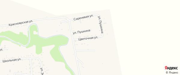 Цветочная улица на карте Смоленского села с номерами домов