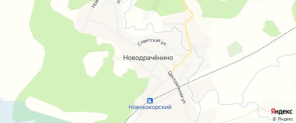 Карта села Новодраченино в Алтайском крае с улицами и номерами домов