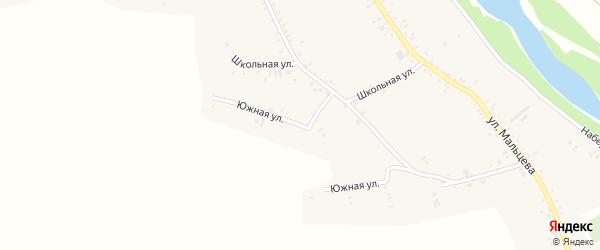 Южная улица на карте Катунского села с номерами домов