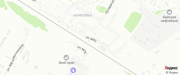 Улица МПС на карте станции Чемровка с номерами домов