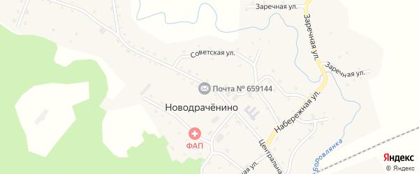 Центральная улица на карте села Новодраченино с номерами домов
