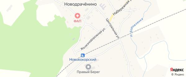 Железнодорожная улица на карте села Новодраченино с номерами домов