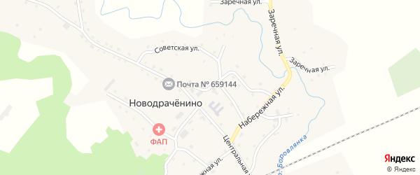 Школьная улица на карте села Новодраченино с номерами домов