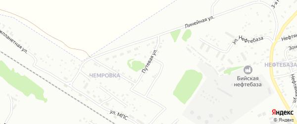 Путевая улица на карте Бийска с номерами домов