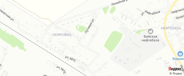 Железнодорожная улица на карте Бийска с номерами домов