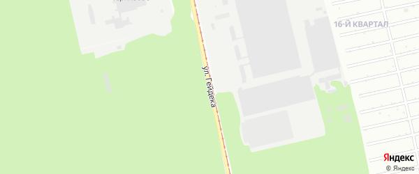 Улица Эдуарда Гейдека на карте Бийска с номерами домов