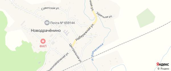 Набережная улица на карте села Новодраченино с номерами домов