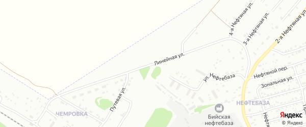 Линейная улица на карте Бийска с номерами домов