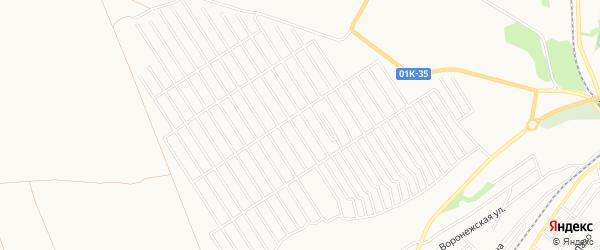 Карта территории ст Олеумщика города Бийска в Алтайском крае с улицами и номерами домов