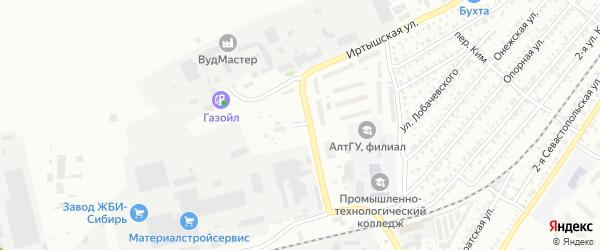 Улица ЖБИ-1 на карте Бийска с номерами домов