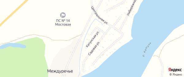 Катунская улица на карте садового некоммерческого товарищества Катуня с номерами домов