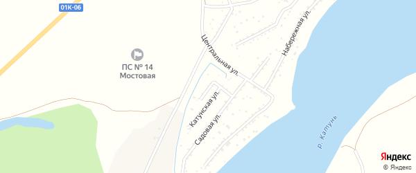 Вишневый переулок на карте садового некоммерческого товарищества Катуня с номерами домов