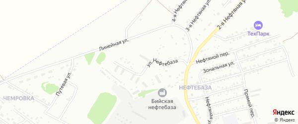 Улица Нефтебаза на карте Бийска с номерами домов