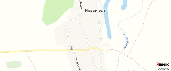 Центральная улица на карте территории сдт Автомобилиста с номерами домов