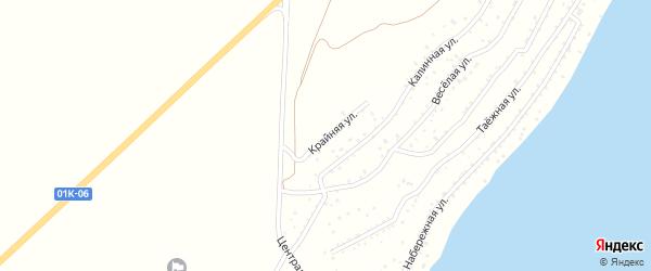 Крайняя улица на карте садового некоммерческого товарищества Катуня с номерами домов