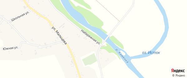 Набережная улица на карте Катунского села с номерами домов