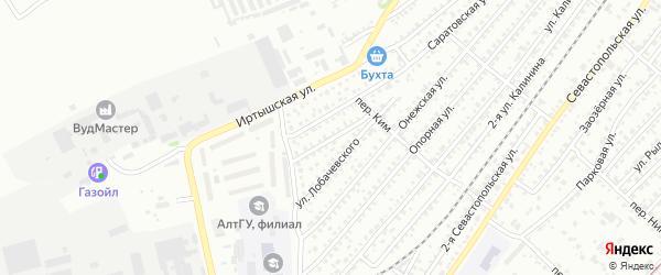 Улица 2-я Лобачевского на карте Бийска с номерами домов