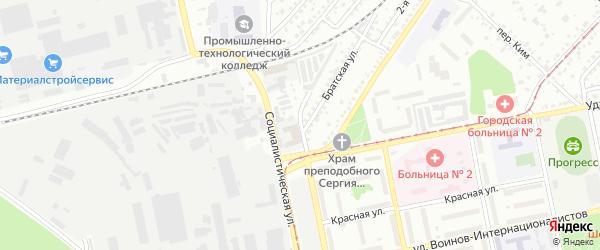 Подъёмный переулок на карте Бийска с номерами домов