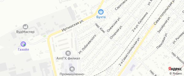 Улица Николая Лобачевского на карте Бийска с номерами домов