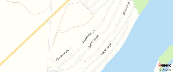Калинная улица на карте садового некоммерческого товарищества Катуня с номерами домов