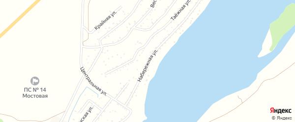 Набережная улица на карте садового некоммерческого товарищества Катуня с номерами домов