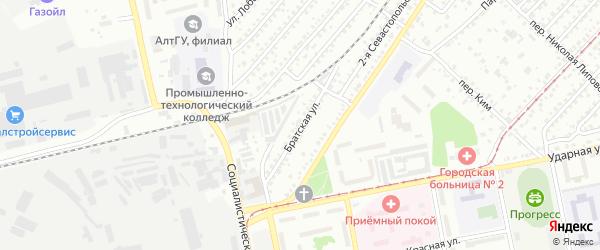 Братская улица на карте Бийска с номерами домов