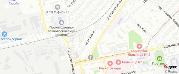 Братская улица на карте Белокурихи с номерами домов