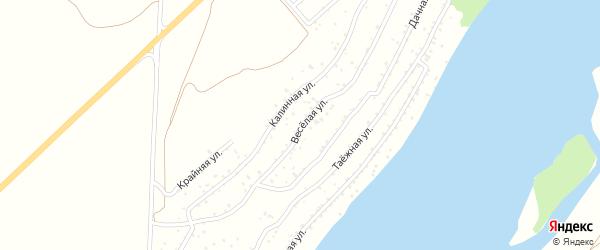 Веселая улица на карте садового некоммерческого товарищества Катуня с номерами домов
