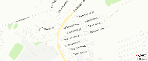 Зональная улица на карте Бийска с номерами домов