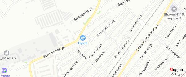 Саратовская улица на карте Бийска с номерами домов