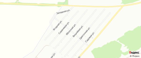 Яблочная улица на карте территории сдт Барнаульского с номерами домов
