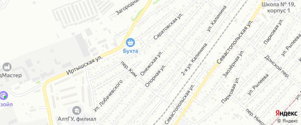 Онежская улица на карте Бийска с номерами домов