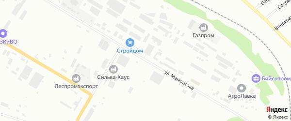 Улица Ефима Мамонтова на карте Бийска с номерами домов