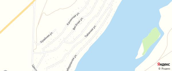 Таежная улица на карте садового некоммерческого товарищества Катуня с номерами домов